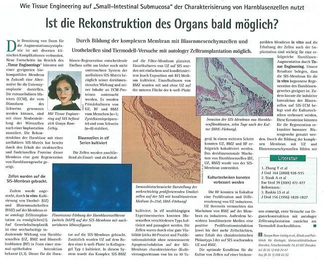 Ist die Rekonstruktion des Organs bald möglich?